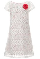 Us Angels Lavender by Little Girls 2T-6X Tribal Embroidered Overlay A-Line Dress