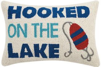 "Peking Handicraft, Inc. Hooked On The Lake Hook Pillow, 14""x20"""