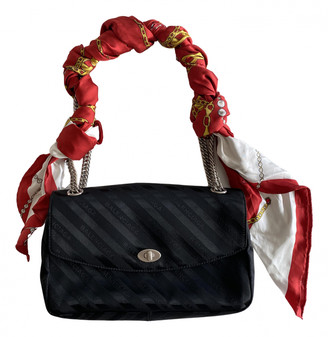 Balenciaga BB Round Black Cloth Handbags