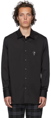 Alexander McQueen Black Skull Embroidered Shirt