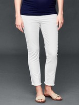 Gap AUTHENTIC 1969 demi panel frayed true skinny crop jeans