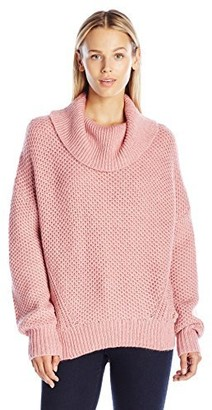 Juicy Couture Black Label Women's SWTR Basket Weave Stitch Loose Pullover