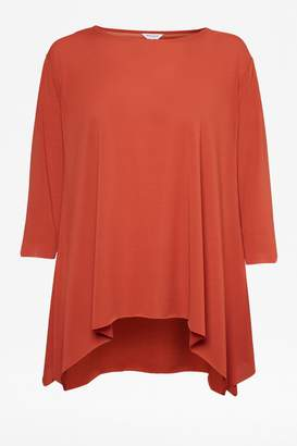 Great Plains Ice Jersey Top - 8 - Red/Orange