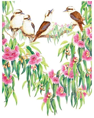 Maxwell & Williams Royal Botanic Gardens Victoria Garden Friends Tea Towel 50x70cm Kookaburra