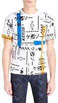 Kenzo Men's Allover Print Embroidered T-Shirt