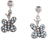 Francesca Villa 18 ct White Gold Joie De Vivre Blue Topaz and Diamond Earrings