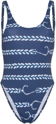 Belusso Nautical Print Swimsuit