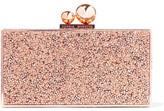 Sophia Webster Clara Crystal-embellished Metal Clutch - Copper