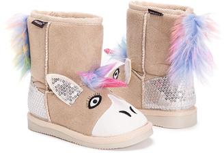 Muk Luks Girls' Casual boots Ivory_101 - Tan Luna Unicorn Boot - Girls