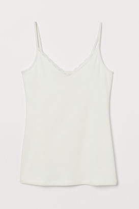 H&M Lace-trimmed Camisole Top