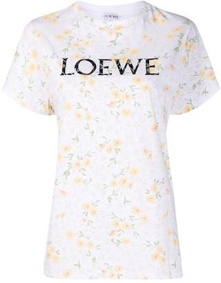 Loewe floral logo print T-shirt