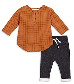 FIRSTS BY PETIT LEM Firsts by petite lem Boys' Henley Top & Pants Set - Baby