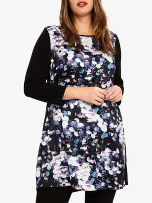 Studio 8 Dahlia Graphic Tunic Dress, Black/Multi