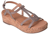 Corso Como Taupe Brushed Sandi Cork-Wrapped Wedge Sandal