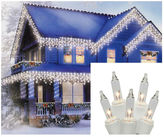 Asstd National Brand Set of 300 Shimmering Clear Mini Icicle Christmas Lights with White Wire