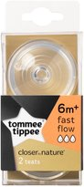 Tommee Tippee 2-Pack Nipples, Clear