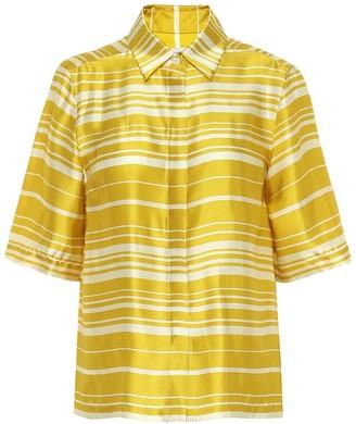 Dries Van Noten Striped satin shirt