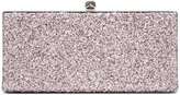 Jimmy Choo Celeste glitter clutch bag - women - Silk/Metallic Fibre - One Size