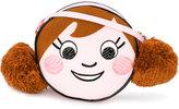 Simonetta face appliqué shoulder bag