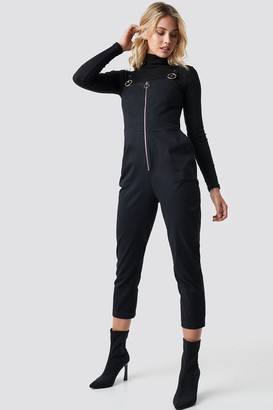 Front Zip Detailed Jumpsuit