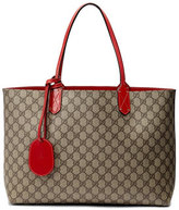 Gucci Reversible GG Leather Tote, Brown/Red