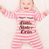 Nell Percy and Personalised 'Little Sister' Romper