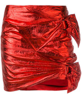 Isabel Marant metallic Doll skirt - women - Cotton/Lamb Skin - 40