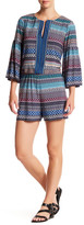 Laundry by Shelli Segal Printed Stripe Bell Sleeve Romper