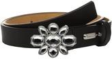 MICHAEL Michael Kors 25mm Saffiano Belt on Jeweled Plaque Buckle