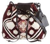 Vanessa Bruno Woven Embroidered Shoulder Bag