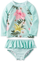 Carter's 2-Pc. Floral-Print Rashguard Swim Set, Baby Girls (0-24 Months)