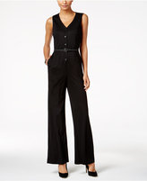 Nine West Pinstriped Jumpsuit