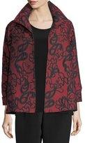 Paisley Cloque A-line Jacket, Plus Size