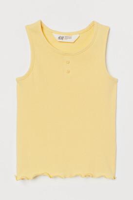 H&M Ribbed cotton vest top