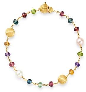 Marco Bicego 18K Yellow Gold Africa Gemstone Pearl Beaded Bracelet