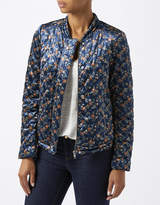 Monsoon Vita Velvet Print Bomber Jacket