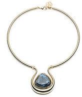 Trina Turk Hollywood Hills Floating Stone Pendant Choker Necklace