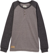 Lucky Brand Heather Light Rocket Raglan Henley - Boys