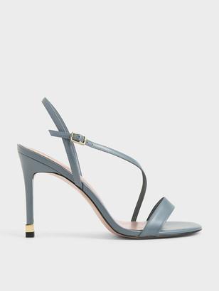 Charles & Keith Asymmetric Strap Slingback Heels