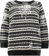 Lamberto Losani heart knit jumper