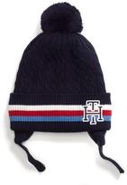 Tommy Hilfiger Stripe Pom-Pom Tie Hat
