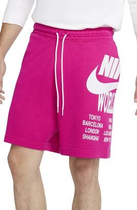 Nike Sportswear World Tour Graphic Drawstring Shorts