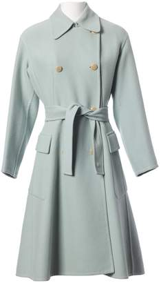 Hermes Blue Wool Coats