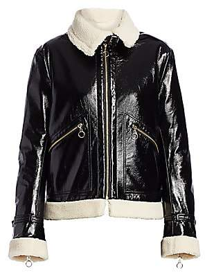 Jonathan Simkhai Women's Shiny Faux Shearling-Lined Jacket