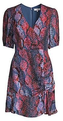 Parker Women's Soliana Snakeskin Print Ruched Dress