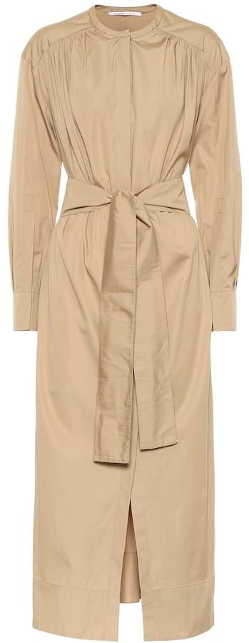 Agnona Cotton poplin maxi shirt dress