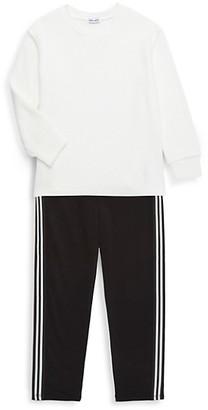 Splendid Little Girl's 2-Piece Cotton-Blend Top Jogger Pants Set