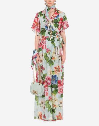 Dolce & Gabbana Floral Print Suit In Crepe De Chine