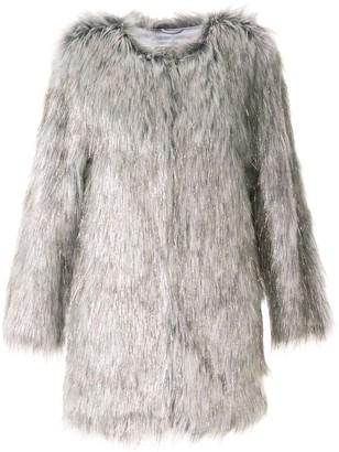 Wanderlust faux-fur coat