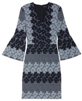 Maggy London Women's Jacquard Bell Sleeve Dress